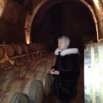 Manuela Piancastelli in 1,000 year old wine cellar (2)
